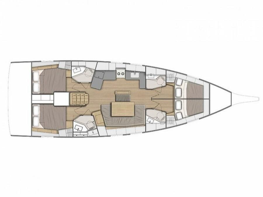 Oceanis 46.1 - 4 cab (Eirene) Plan image - 10