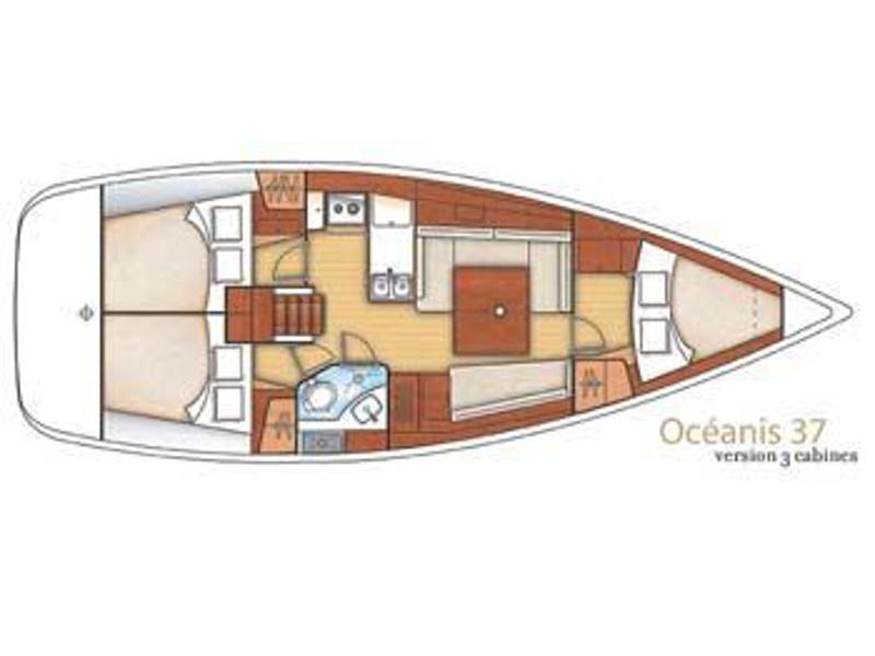 Oceanis 37 (Tamelos) Plan image - 5