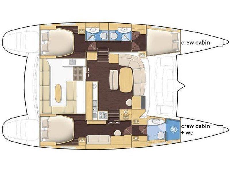 Lagoon 440 (Tani) Plan image - 12