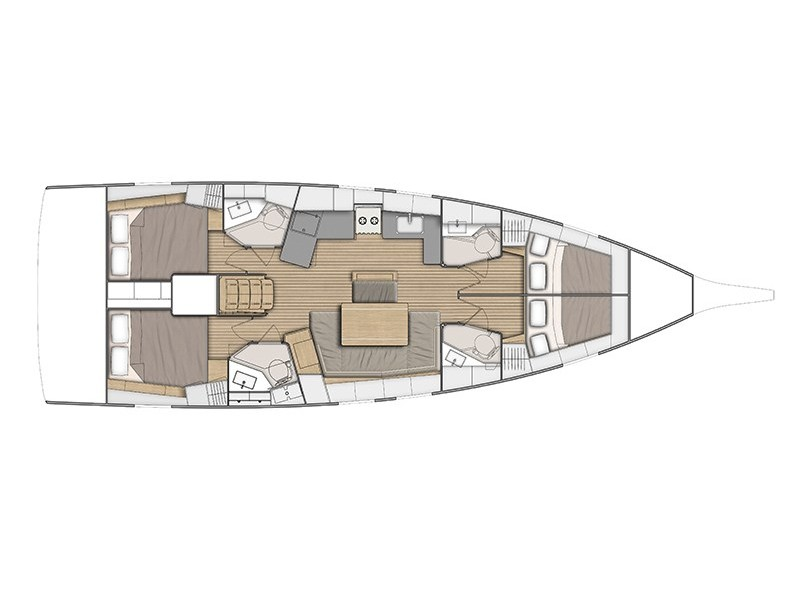 Oceanis 46.1 - 4 cab (Aletheia) Plan image - 3