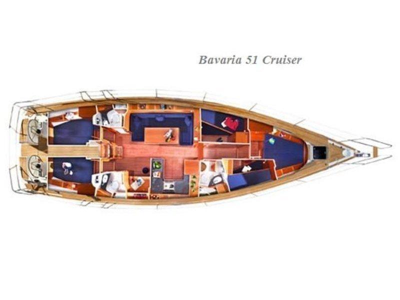 Bavaria 51 Cruiser (SY Sissi) Plan image - 3