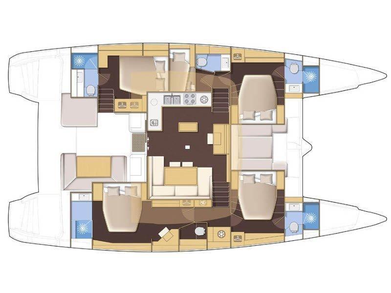 Lagoon 52 F (My One) Plan image - 6