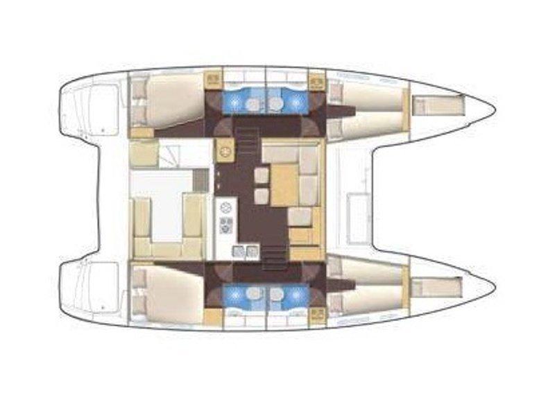 Lagoon 400 S2 (Myrto) Plan image - 2