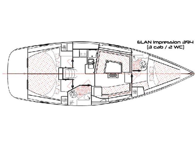 Elan 394 impression (Thalia) Plan image - 1