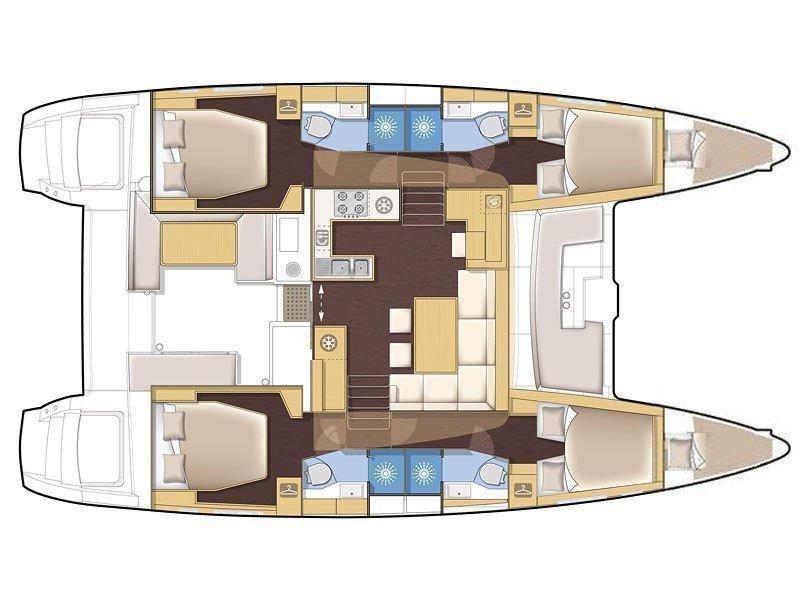 Lagoon 450 (Nata) Plan image - 4