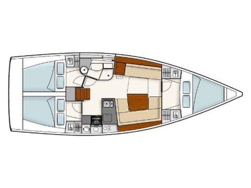 Hanse 385 (Ariel) Plan image - 6