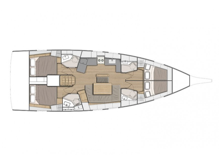 Oceanis 46.1 - 4 cab (Nefele) Plan image - 9