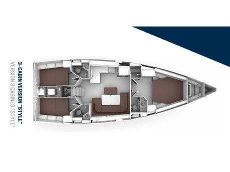 Bavaria Cruiser 46 Style (Pinot Gris) Plan image - 1