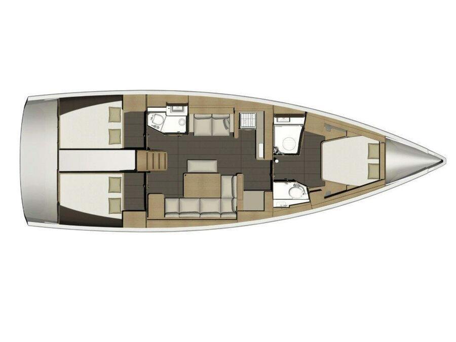 Dufour 460 Grand Large 3 cabin (Rockstar ) Plan image - 17