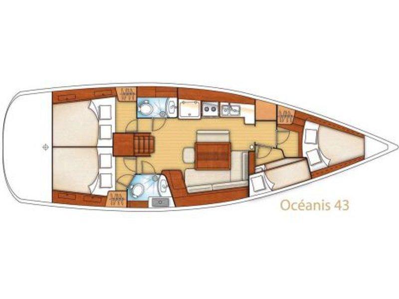 Oceanis 43 (Gilda) Plan image - 1