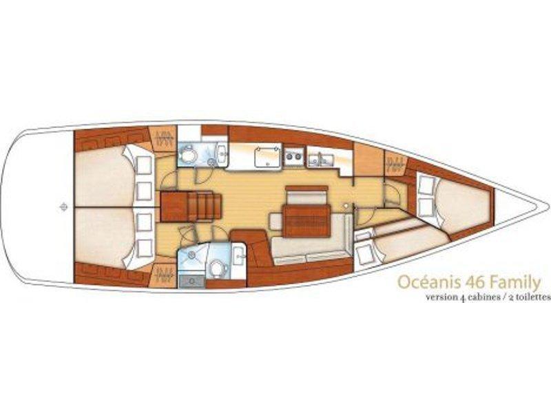 Oceanis 46 (Sail La Vie) Plan image - 2