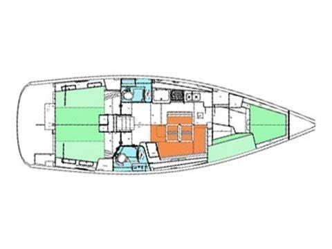 Beneteau Oceanis 43 (Blauw) Plan image - 4