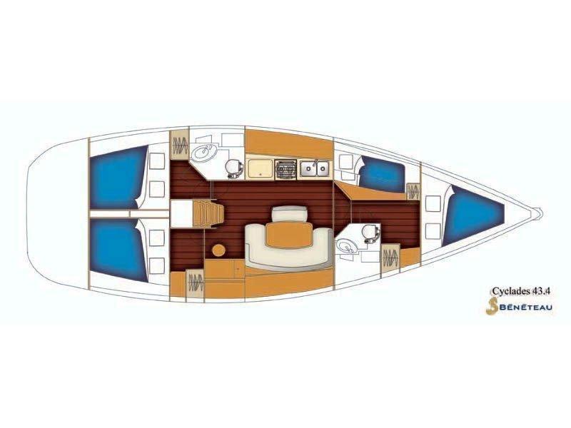 Beneteau Cyclades 43.4 (Niagara) Plan image - 11