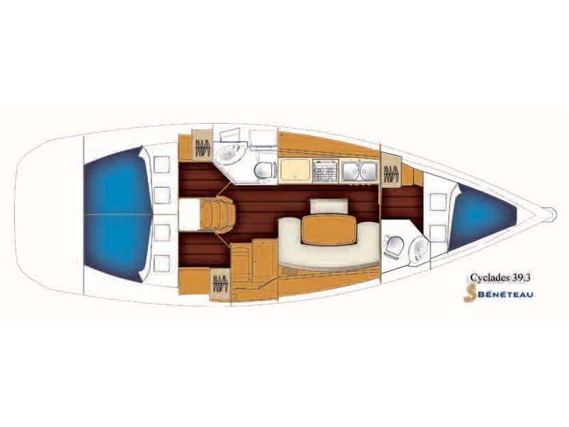 Beneteau Cyclades 39.3 (PHAROS) Plan image - 10