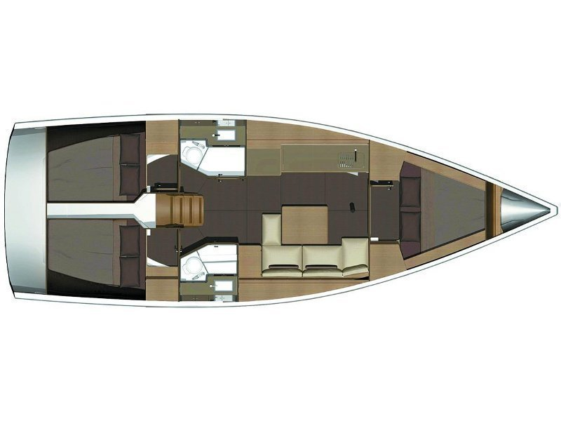 Dufour 382 Grand Large (ELI) Plan image - 5