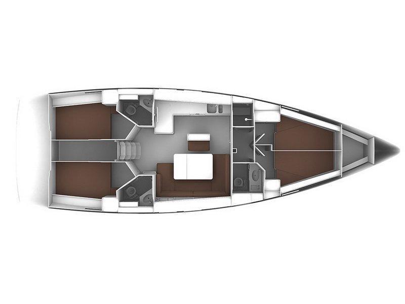 Bavaria Cruiser 46 (Ticija with A/C and generator (2015)) Plan image - 49