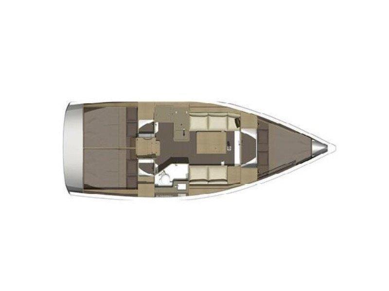 Dufour 350 Grand Large (SWEET LADY) Plan image - 1