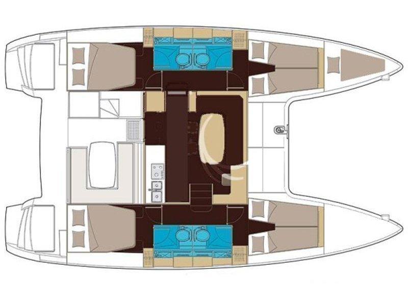 Lagoon 400 S2 (Laura) Plan image - 7