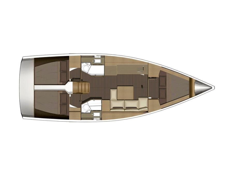Dufour 382 Grand Large (Ceja) Plan image - 10