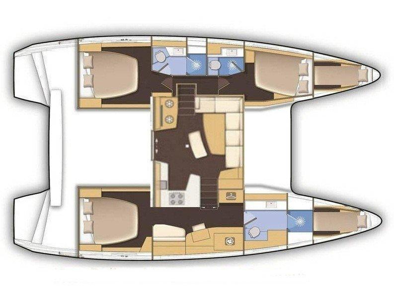 Lagoon 42 OWNER VERSION (BESO DEL VIENTO) Plan image - 7