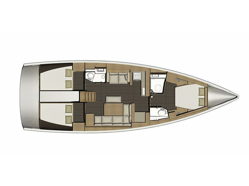 Dufour 460 Grand Large 3 cab (Avalon II - BT) Plan image - 17