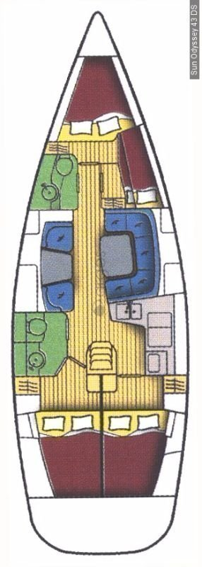 Sun Odyssey 43 DS (Tomi I)  - 1