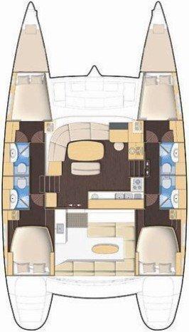 Lagoon 440 - 4 + 2 cab. (Futuna T)  - 1