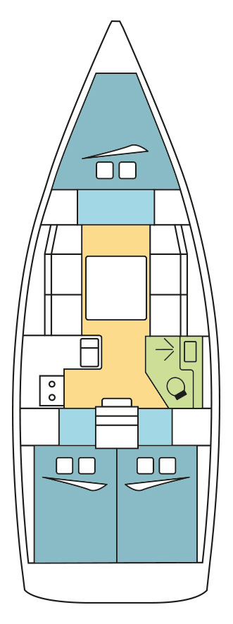 Dufour 360 GL - 3 cab. (FALEOS )  - 1
