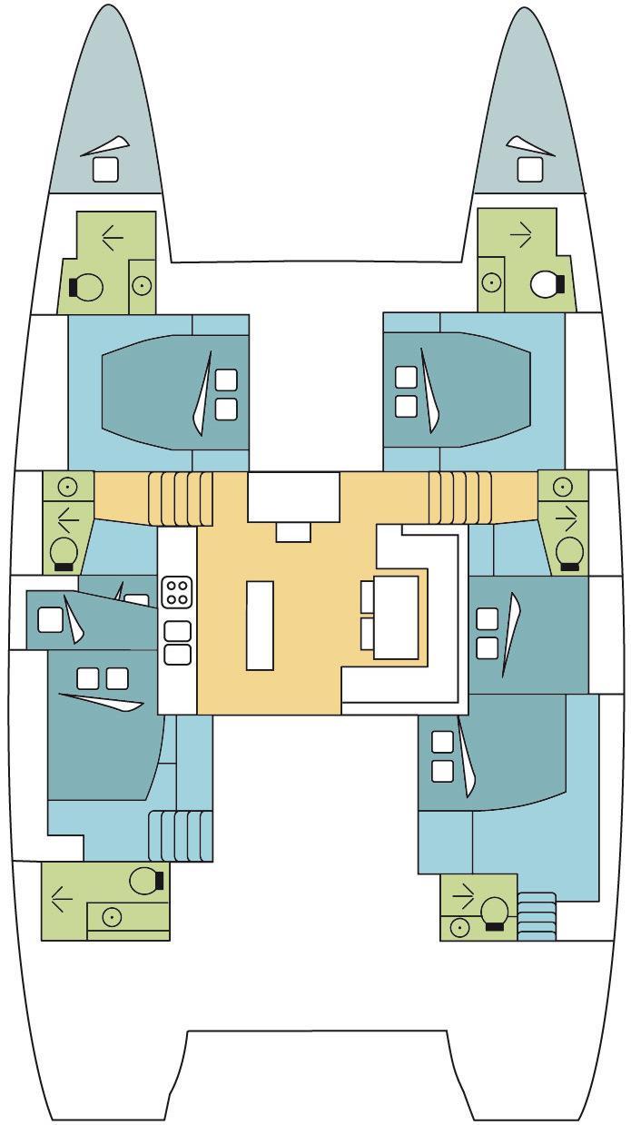 Lagoon 52 F - 6 + 2 cab. (ALAMAK )  - 1