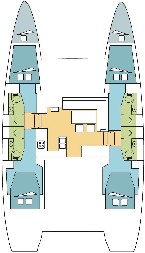Lagoon 450 - 4 + 2 cab. (ORMINDO )  - 1