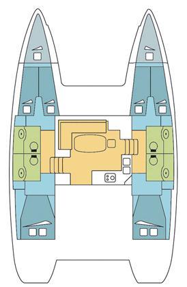 Lagoon 40 - 4 + 2 cab  (MANUIA )  - 1