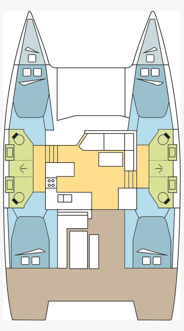 Fountaine Pajot Astrea 42 - 4 + 2 cab. (EDEN BLUE )  - 1
