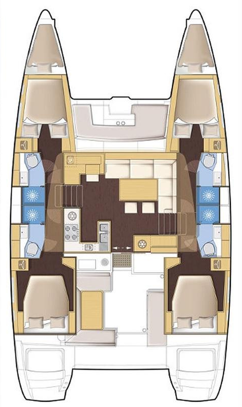Lagoon 450 F - 4 + 2 cab. (THETIS)  - 1
