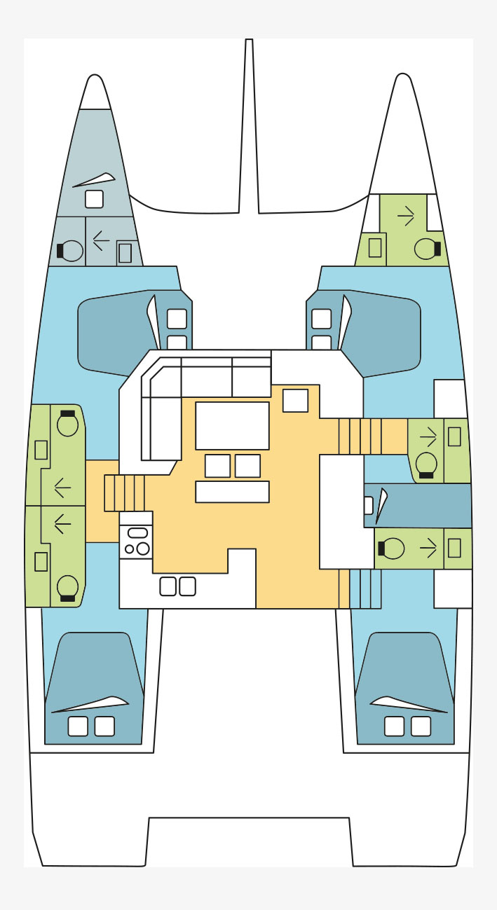 Dufour 48 Catamaran - 5 + 1 cab. (Blue Horizon)  - 1