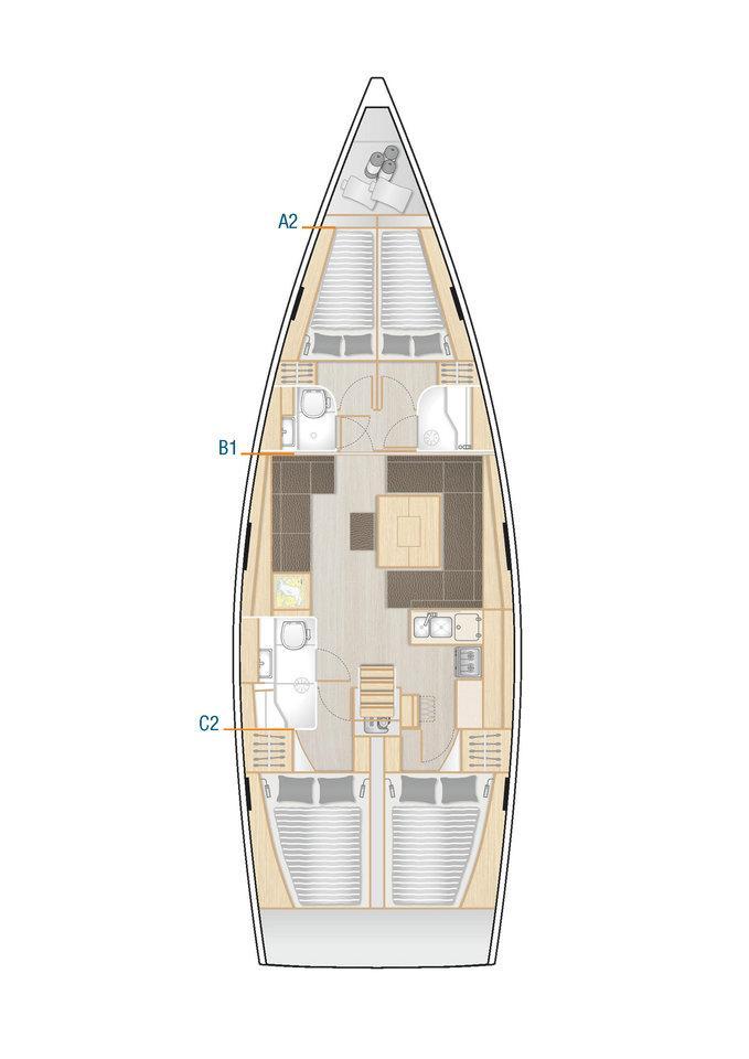 Hanse 458 (SARSALA)  - 1