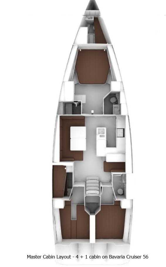 Bavaria Cruiser 56 (5 + 1 cab. - LUNJA)  - 2