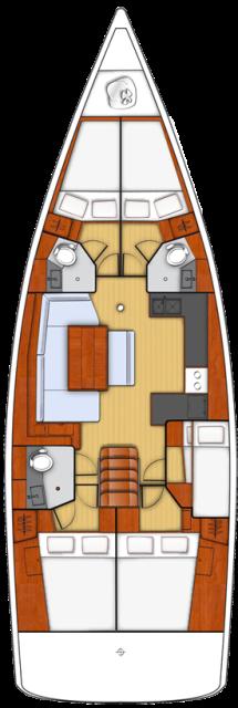 Oceanis 48 - 5 cab. (Athena)  - 1