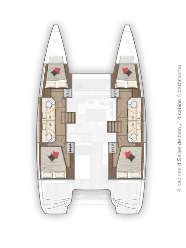 Lagoon 40 - 4 + 2 cab (Monarch)  - 1
