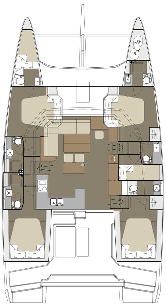 Dufour 48 Catamaran - 4 + 1 cab. (Paradise Planet)  - 1