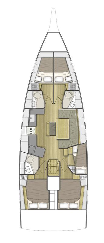 Oceanis 46.1 (5 cab -  A/C - BAR BAR)  - 1