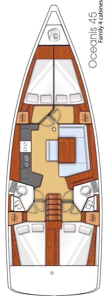 Oceanis 45 - 4 cab. (Anjamia)  - 1