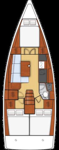 Oceanis 38 - 3 cab. (Solar)  - 1