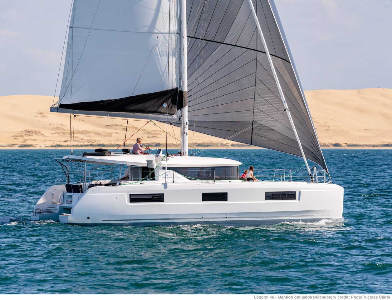 Lagoon 46 - 4 + 2 cab. (WHITE PEARL (generator, air condition, water maker))  - 2