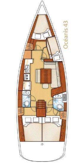Oceanis 43 (Beluga)  - 1