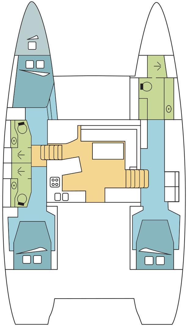 Lagoon 450 - 3 + 1 cab. (ORION_DB )  - 1