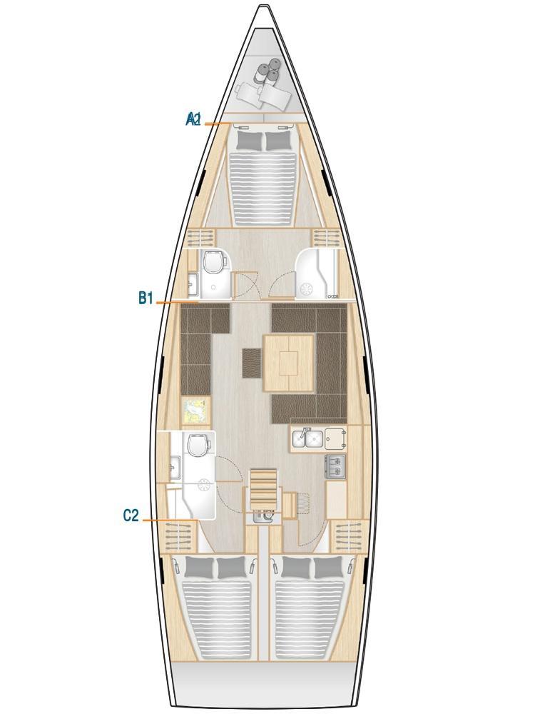 Hanse 458 - 3 cab. (Sea Pearl)  - 1