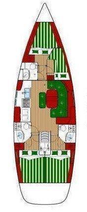 Oceanis Clipper 423 - 4 cab. (Brava)  - 1