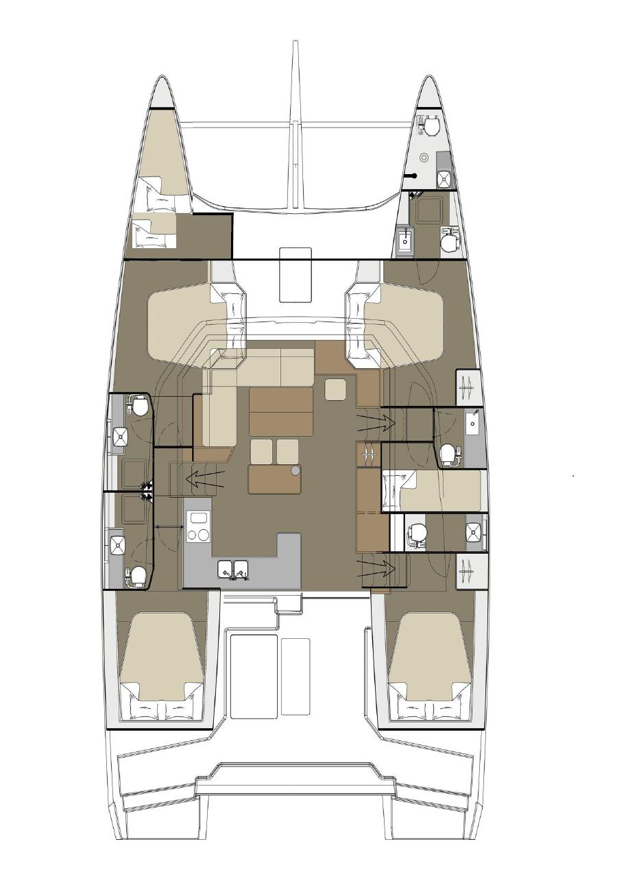Dufour 48 Catamaran - 5 + 1 cab. (NEW 1)  - 1