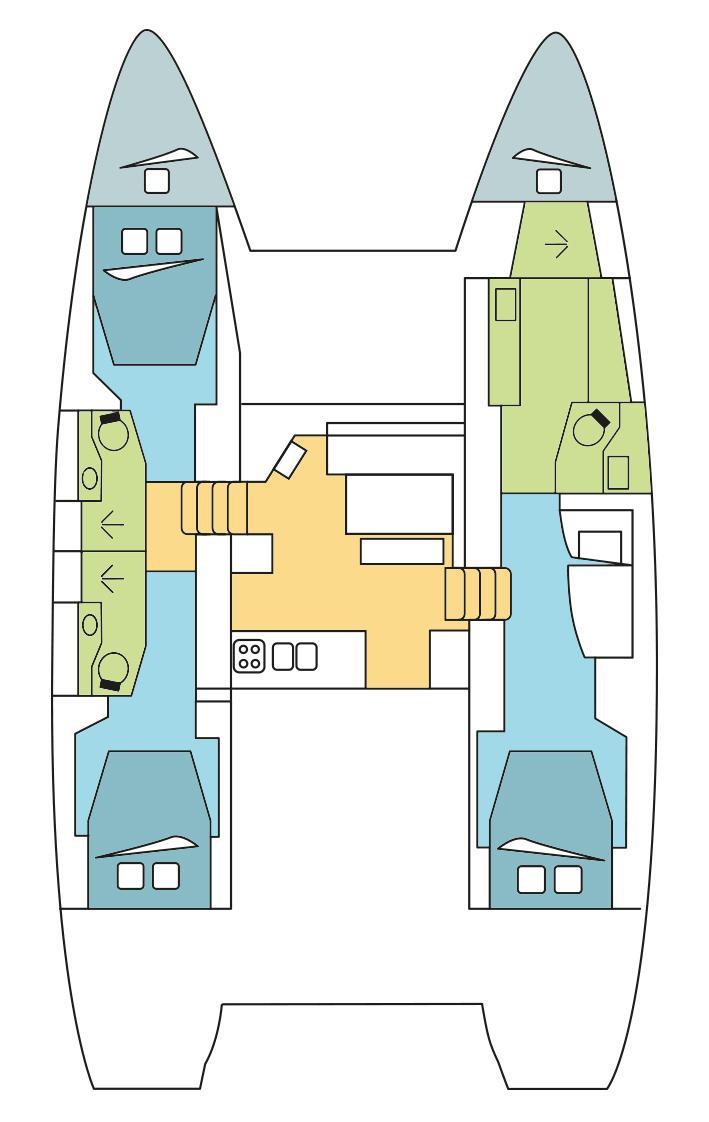 Lagoon 46 - 3 + 2 cab. (Habibi Dah - AC&GEN&WAT)  - 1