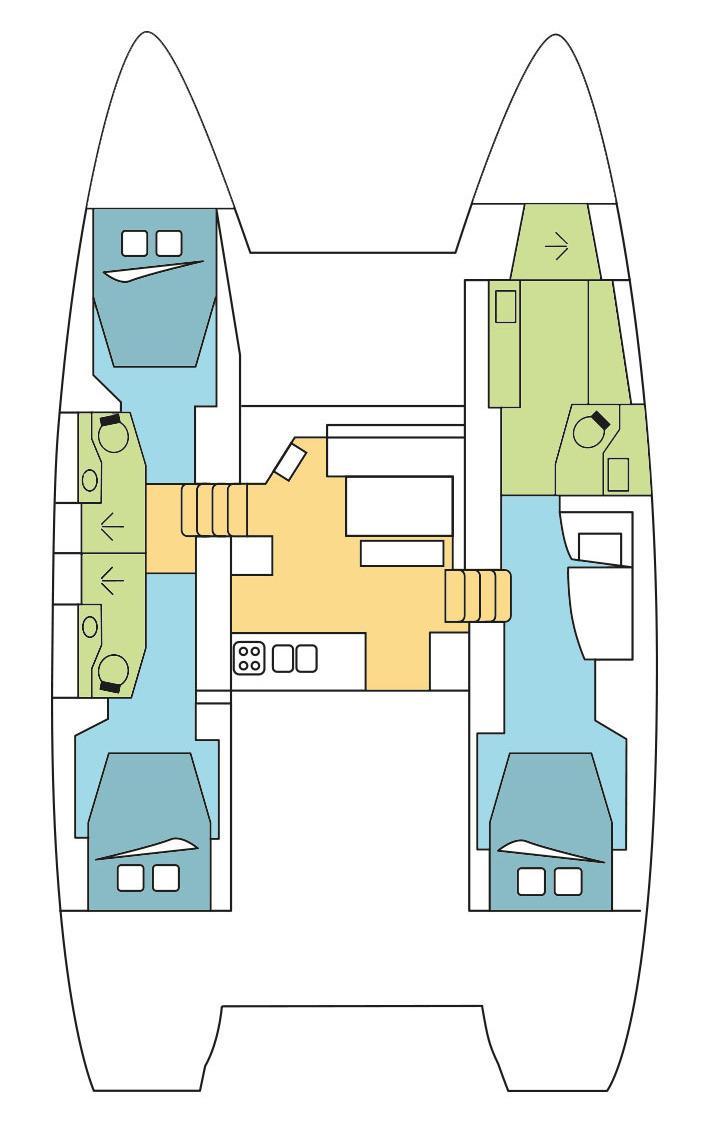 Lagoon 46 - 3 cab. OW (Vela)  - 1